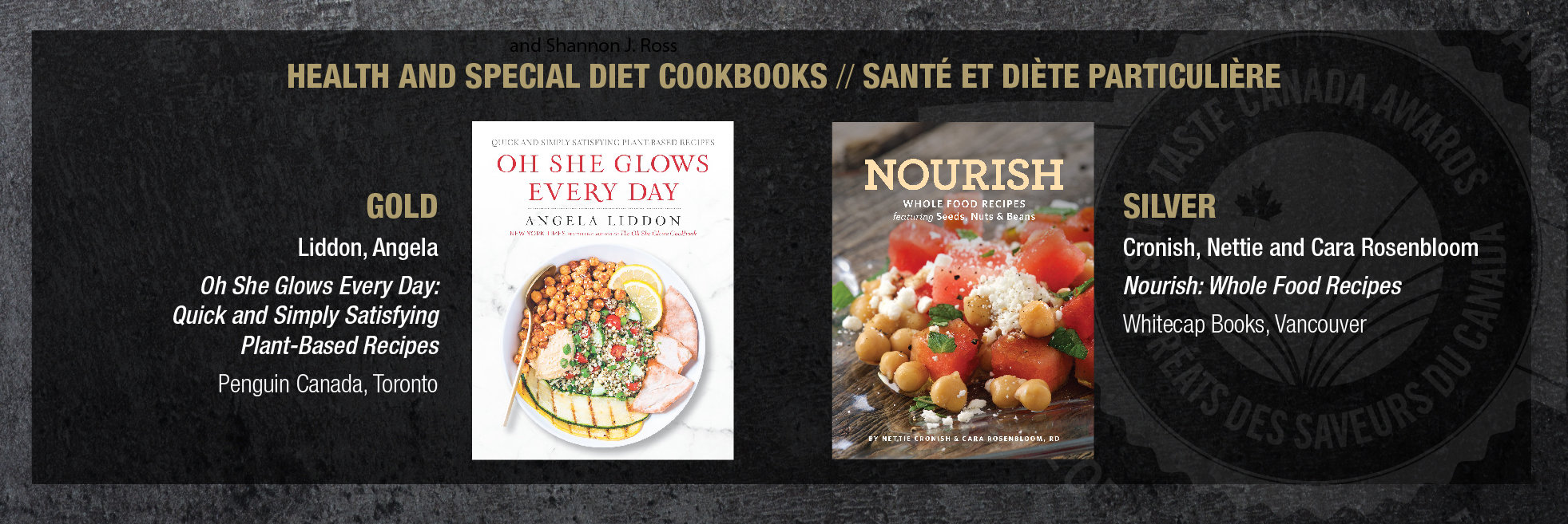 Nourish wins silver at taste canada cookbook awards netties cara and i accepting the silver award forumfinder Choice Image